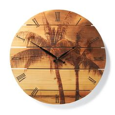 Palm Tree Cedar Clock