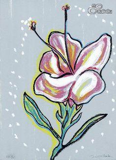 """""""Floraleza"""", Ouka Leele. Serigrafía. Dimensiones: 31 x 43 cm #flor"""