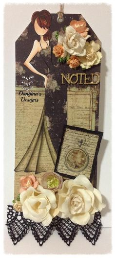 MyCarden: Noted with a Hop - Loves Rubberstamps Sensational Sunday Blog Hop - Design Team Member Dangina Martinez using Prima Dolls