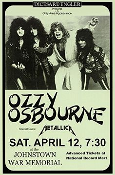 Black Sabbath Ozzy Osbourne with Metallica Live 1986 Retr...