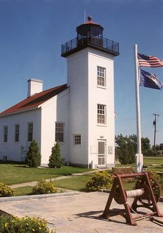 Michigan Lighthouses | Sand Point Lighthouse and Escanaba Light