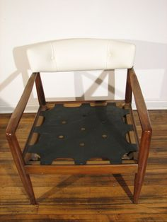 Pair of Mid Century Modern Chairs in white natural by aswirgon, $2300.00