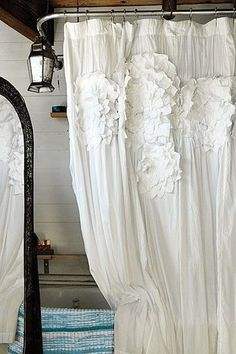 Charmant Ruffled Shower Curtain | Pinterest | Ruffle Shower Curtains, Shabby And Bath