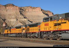 A group of EMD SD9043MACs assigned to a coal train and a swing helper mingle at Helper Yard on Nov. 2, 2007.