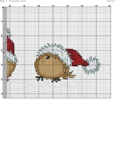 Shape and soften edges with backstitches. Xmas Cross Stitch, Cross Stitch Cards, Cross Stitch Animals, Counted Cross Stitch Patterns, Cross Stitch Designs, Cross Stitching, Cross Stitch Embroidery, Embroidery Patterns, Theme Noel
