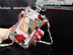 シャネルCHANEL香水瓶iPhone5/5Sケース ダイヤモンドセクシーな唇 透明