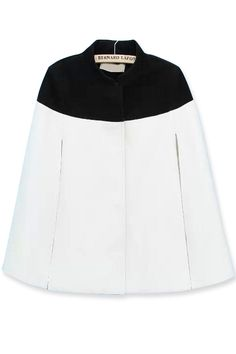 OASAP contrast black and white cape
