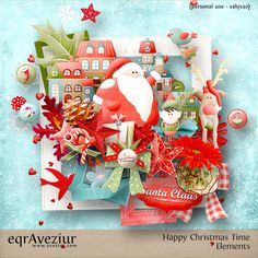 Happy Christmas Time by #Aveziur #christmasinjuly #theStudio #digitalscrapbooking