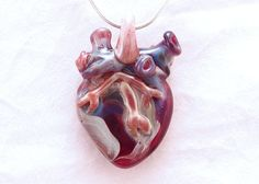 I love you Extra Large Anatomical Heart by DeenieWallaceArt
