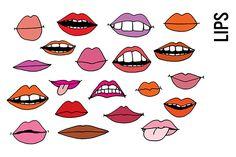 Lips Doodle Clipart