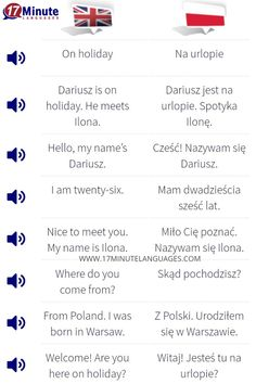 Learn Polish with 17 minute languages. Learn Polish, Sentence Construction, Polish Words, Polish Language, Learning Methods, Learn A New Language, New Words, Spice Things Up, Languages