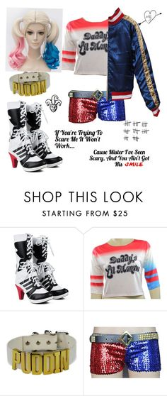 """""""Sucide Squad Harley/ 4 months"""" by ghkbarbie ❤ liked on Polyvore"""