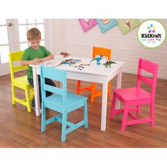 Found it at Wayfair - Highlighter Kids 5 Piece Table and Chair Set