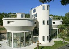conversion of two water towers, which have been made into an art deco-inspired contemporary home. The building, which is grade II-listed, wa...