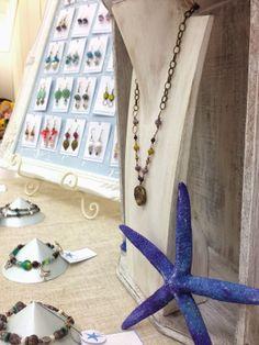 Newbury Market - jewellery display by The Blue Starfish