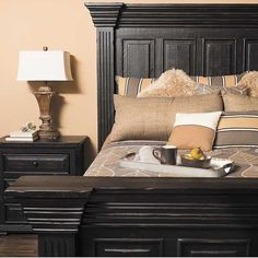 Surround yourself in rustic splendor with the Isabella Black 5 Piece Bedroom Set  from the Isabella Black Bedroom Collection by Nero Lupo. This mansion-sized  set pairs traditional styling and a rugged finish for a stately look  with character. Available in-stores and online  at AFW.com.