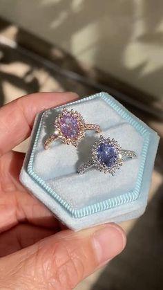Purple Engagement Rings, Beautiful Engagement Rings, Alternative Engagement Rings, Gemstone Engagement Rings, Halo Diamond Engagement Ring, Vintage Engagement Rings, Gemstone Rings, Pretty Rings, Beautiful Rings