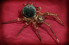 Steampunk Sclpture  Pin Cushion Spider  by CatherinetteRings, $800.00
