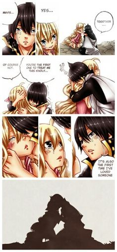 Fairy Tail | Chapter 450 | Zervis | SPOILER!! | NOW EVERYTHING MAKES SENSE. | ...I CAN'T BELIEVE THEY KISSED!! *-* | But than...WHY DOES SHE DIE?! :'( Fairy Tail Sad, Fairy Tale Anime, Natsu Fairy Tail, Fairy Tail Ships, Fairy Tales, Zeref, Gruvia, Fairy Tail Pictures, Fariy Tail