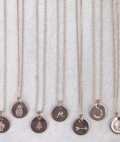 Mini Disc Necklace - James Michelle Jewelry - Handstamped Necklaces
