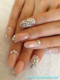 50 Ideas de uñas para novias o casamiento –  #Wedding #nails #Bridal