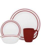 Corelle Livingware 16 Piece Dinnerware Set - Classic Café Red