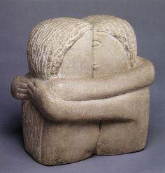 Constantin Brancusi, The Kiss (Le Baiser), Stone Sculpture, Brancusi Sculpture, Plaster Sculpture, Art Sculpture, Modern Sculpture, Sculpture Ideas, Art Amour, Constantin Brancusi, Art Moderne