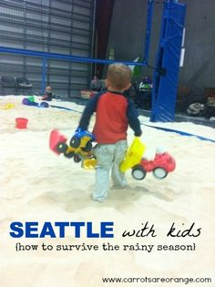 Especially now that the weather has decidedly taken a turn for the worse…for the next six months or so…I thought it to share a few of our favorite INDOOR Seattle child friendly spots.