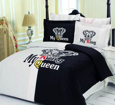 ... ideas, bedding fabrics with heart designs, black and white comforter