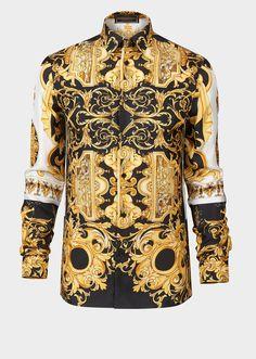 b102a70a4c52c Barocco SS 92 Silk Shirt for Men