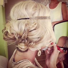 Vintage wedding hairstyles updo gatsby roaring 41 ideas - All For Wedding Hair Style Headband Hairstyles, Up Hairstyles, Pretty Hairstyles, Wedding Hairstyles, Flapper Hairstyles, Style Hairstyle, Hairstyle Ideas, Love Hair, Gorgeous Hair