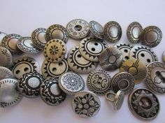 Vintage Buttons  assorted most matching silver by pillowtalkswf, $12.00