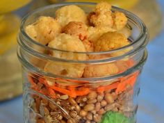 10 Meals In Mason Jars You Have To Try: Wheat Berry & Roasted Cauliflower Jar http://www.prevention.com/food/healthy-recipes/10-amazing-mason-jar-recipes?s=6