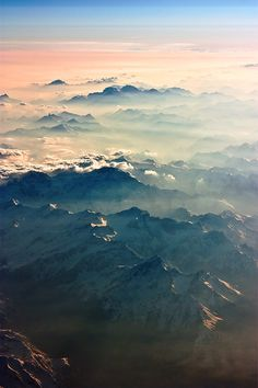 I love the effect of early morning fog in the mountains.