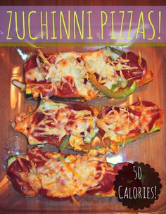 50 Calorie Zuchinni Pizza! I can't wait to try this with fresh Zuchinni this summer