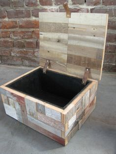 wood box / reclaimed wood box / keepsake box. $180.00, via Etsy.