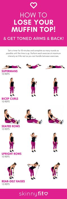 How To Lose Your Muffin Top! (The Best Resistance Band Workout For Arms & Back) … How To Lose Your Muffin Top! (The Best Resistance Band Workout For Arms & Back) How To Lose Your Muffin Top! (The Best Resistance Band Workout For Arms & Back) Resistance Band Arms, Resistance Workout, Resistance Band Exercises, Stretch Band Exercises, Exercises With Bands, Resistance Band Training, Resistance Bands With Handles, Thera Band Exercises, Stretch Bands