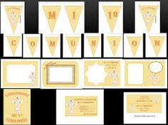 banderines para comunion - Buscar con Google Ideas Para Fiestas, Advent Calendar, Holiday Decor, Frame, Google, Free Printable, Slipper, Ideas Party, Picture Frame