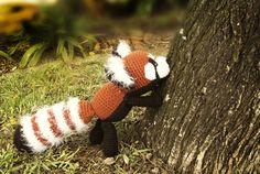 Red Panda amigurumi by Crayyons Red Panda, Yarn Projects, Knit Crochet, Deviantart, Christmas Ornaments, Crayons, Knitting, Holiday Decor, Cute
