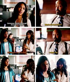 The Flash - Iris, Joe & Cisco #2x01 #Season2 oh man I wanna laugh so hard but at the same time Im like aww... cisco...he needs more firends