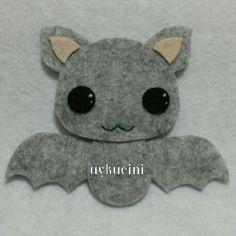 uykucini - cute felt bat :) keçe yarasa...