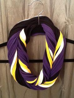 Baltimore Ravens - T Shirt Scarf  Infinity Scarf Belt - NFL Football #Ravens