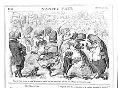 "Vanity Fair 1861, ""Grand Ball given by the Whales in honor of the discovery of the Oil Wells in Pennsylvania."""
