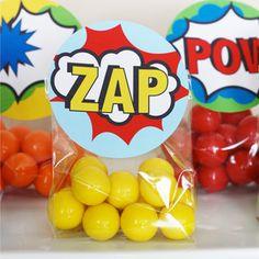 Image of Printable Superhero Favor/Treat Bag Toppers- Superhero Collection