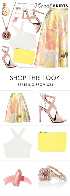 """""""The Perfect Summer Floral Skirt"""" by totwoo ❤ liked on Polyvore featuring Rochas, Kendall + Kylie, BCBGMAXAZRIA, Kenzo and Elizabeth Arden"""