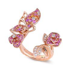 Wings of Freedom Butterfly Rose Ring_WINGS OF FREEDOM_JEWELLERY_FANCYCD英国凡赛珠宝