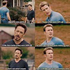 Nothing goes over my head, my reflexes are too fast I would catch it. Follow @9gag - - @capisicle - #9gag #stony #ironman #captainamerica #shipit #bromance #smooth #marvel #funny #L4L #instafollow #FF
