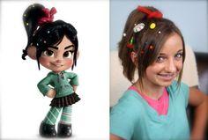 Vanellope von Schweetz Hairstyle tutorial from Disney's Wreck-It Ralph!  {A Disney Style Exclusive Video}