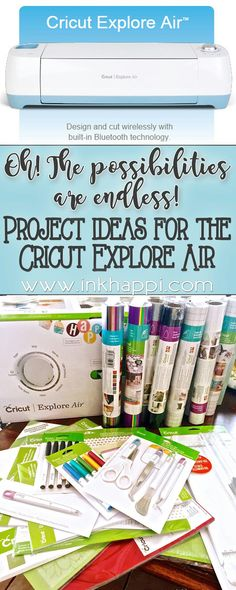 Project Ideas for the Cricut Explore Air
