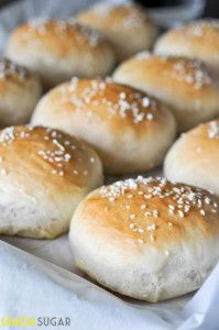 No-fail Homemade Hamburger Buns - Lemon Sugar